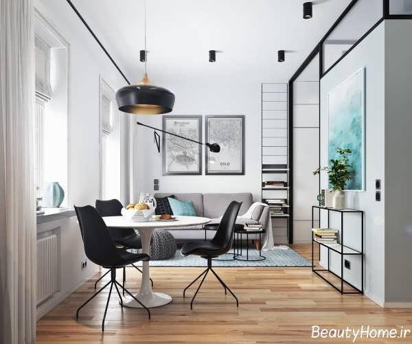 طراحی داخلی خانه با فضای کم