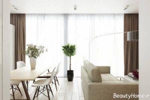 دکوراسیون داخلی خانه کوچک با رنگ روشن