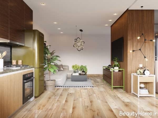 طراحی شیک و زیبا دکوراسیون خانه کوچک