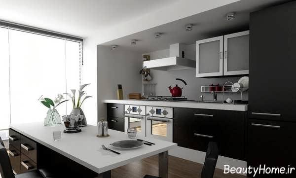دکوراسیون کاربردی و شیک آشپزخانه