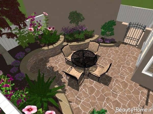 محوطه سازی حیاط با طراحی کاربردی