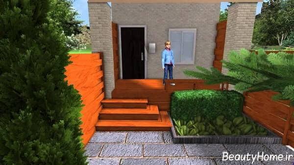 محوطه سازی مدرن حیاط
