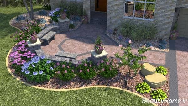 محوطه سازی حیاط زیبا