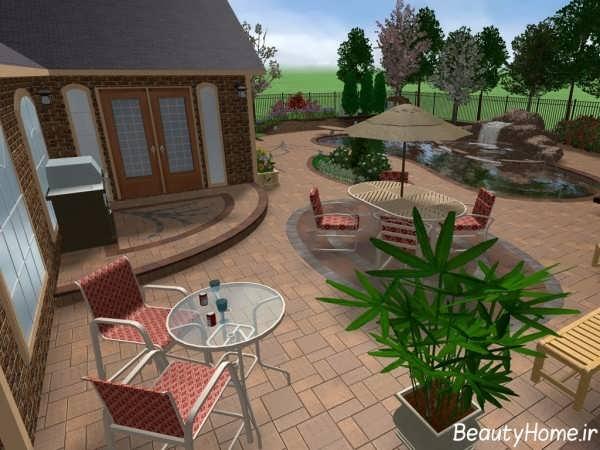 دیزاین داخلی حیاط منزل