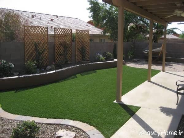 محوطه سازی حیاط بزرگ
