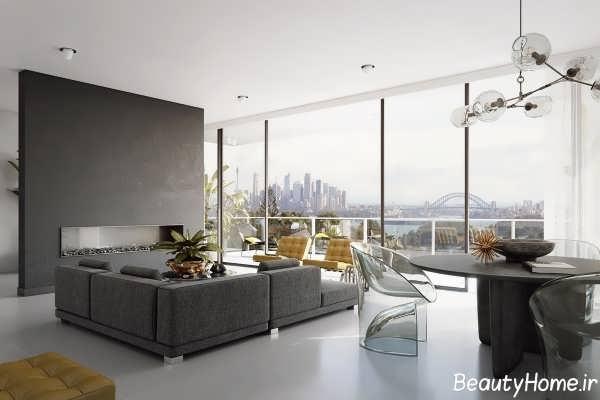 دکوراسیون داخلی مدرن و زیبا پذیرایی