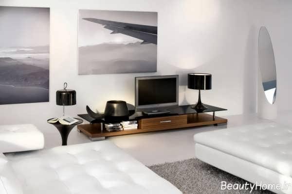 مدل ساده میز تلویزیون
