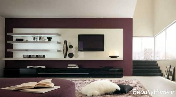 مدل میز تلویزیون مدرن دیواری