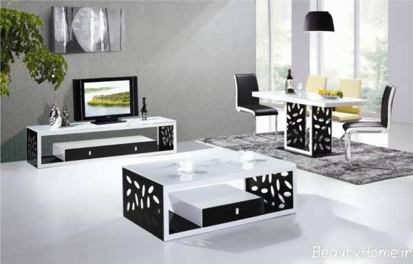 مدل زیبا و متفاوت میز تلویزیون