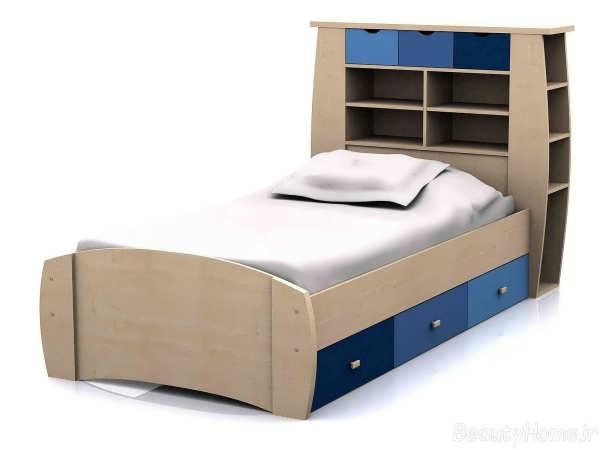 مدل تخت تک نفره ام دی اف مدرن
