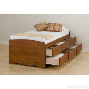 مدل تخت خواب چوبی کشو دار