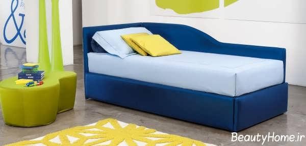 مدل تخت خواب آبی