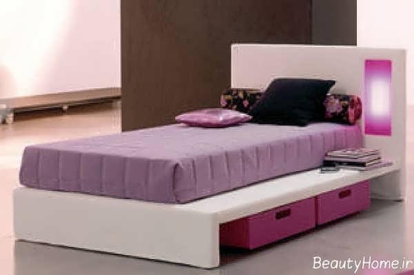 مدل تخت تک نفره دخترانه با جدیدترین طرح های مد سال
