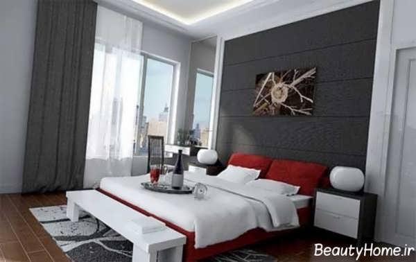 طراحی دکوراسیون اتاق خواب دو نفره کوچک