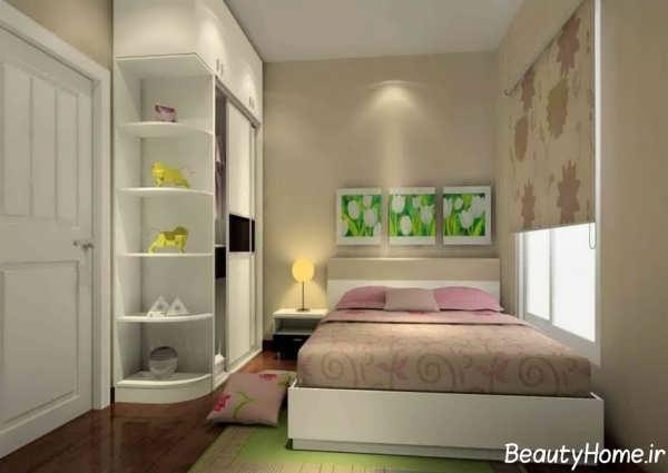 طراحی دکوراسیون اتاق خواب با متراژ کوچک