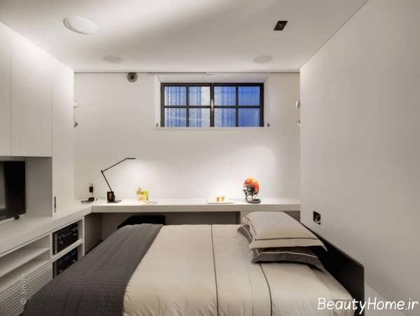 چیدمان اتاق خواب کوچک شیک
