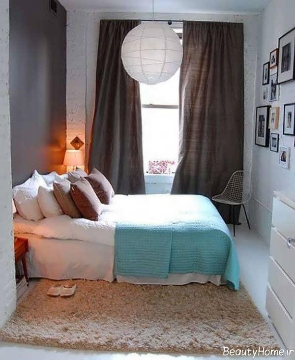 طراحی کاربردی و زیبا اتاق خواب کوچک