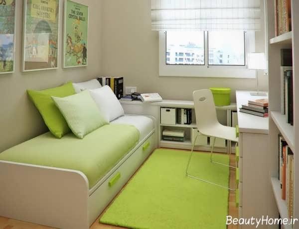 دکوراسیون اتاق خواب سبز