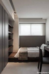 چیدمان اتاق خواب کوچک به صورت کاربردی