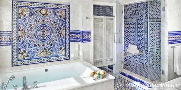 مدل کاشی آبی حمام