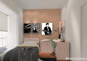 طراحی دکوراسیون زیبا و مدرن اتاق خواب پسرانه