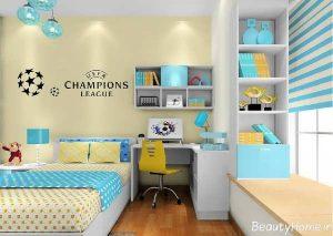 دکوراسیون زیبا و بی نظیر اتاق خواب پسرانه