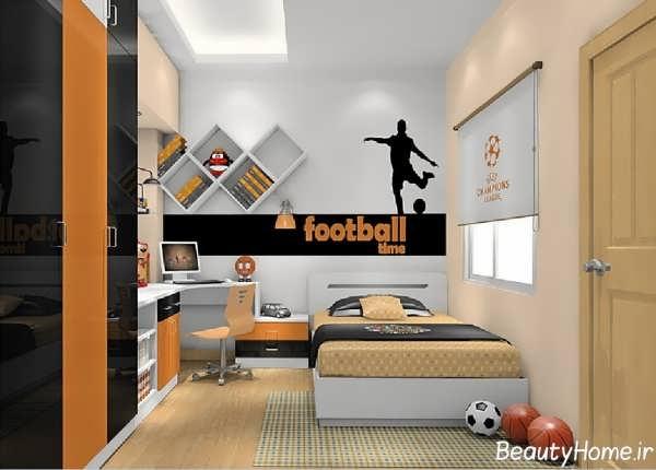 دکوراسیون شیک و زیبا اتاق خواب پسرانه