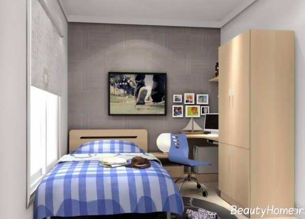 دکوراسیون زیبا و شیک اتاق خواب پسرانه