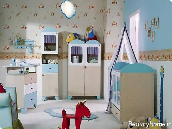 دکوراسیون داخلی شیک و زیبا اتاق نوزاد