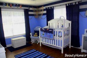 چیدمان اتاق نوزاد پسر با ایده های مدرن