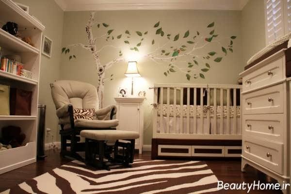 چیدمان اتاق نوزاد پسر با ایده های جالب و زیبای پسرانه