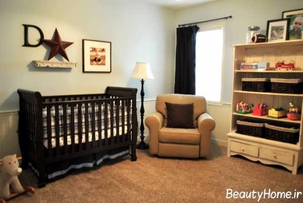 طراحی دکوراسیون زیبا و بی نظیر اتاق نوزاد