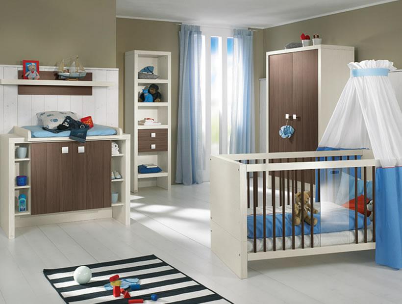 چیدمان اتاق نوزاد پسر با ایده های جالب