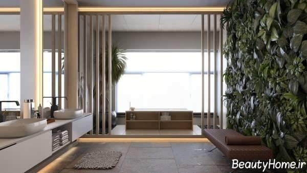 دکوراسیون حمام خانه ای زیبا