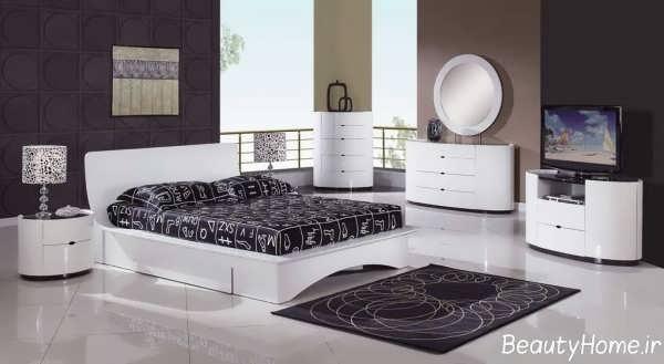 مدل سرویس خواب سفید اسپرت