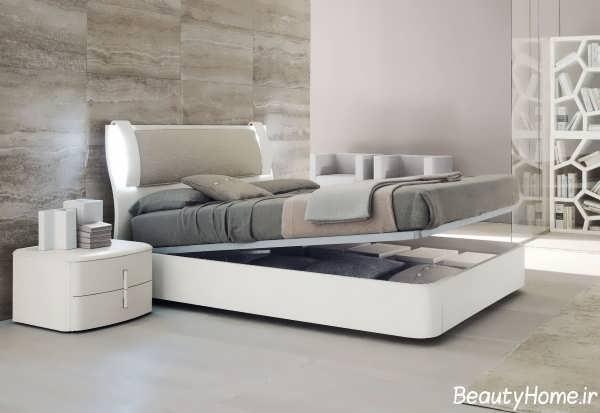 مدل سرویس خواب اسپرت سفید با طرح زیبا