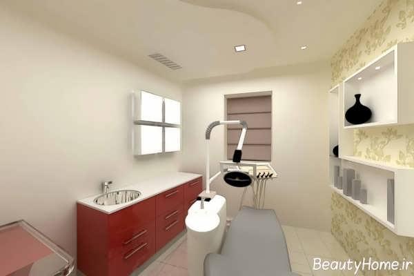 دکوراسیون داخلی مدرن و زیبا مطب دندانپزشکی
