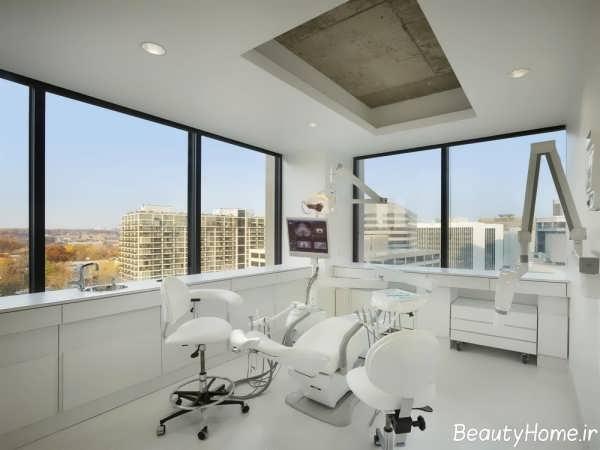 دکوراسیون شیک و ایده آل مطب دندانپزشکی