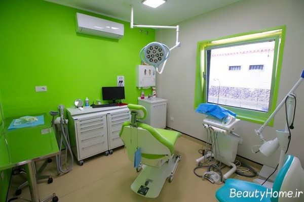 دکوراسیون سبز مطب دندانپزشکی