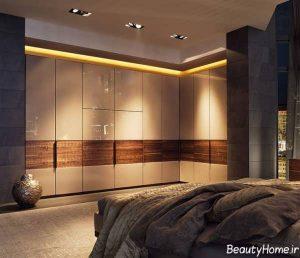 مدل کمد دیواری مدرن و زیبا های گلاس