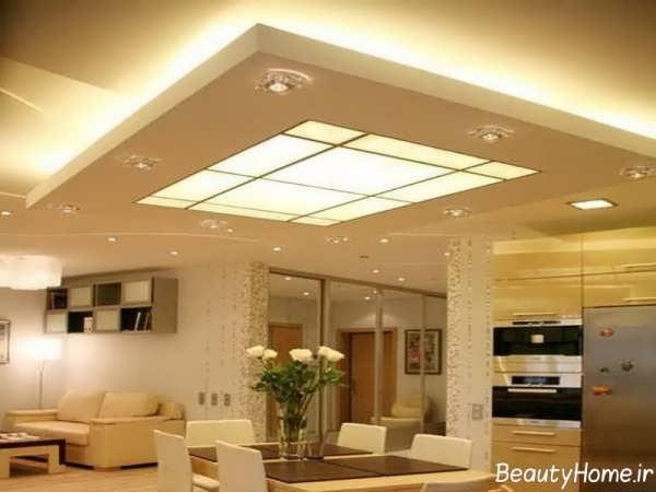طرح شیک سقف کناف ساختمان تجاری