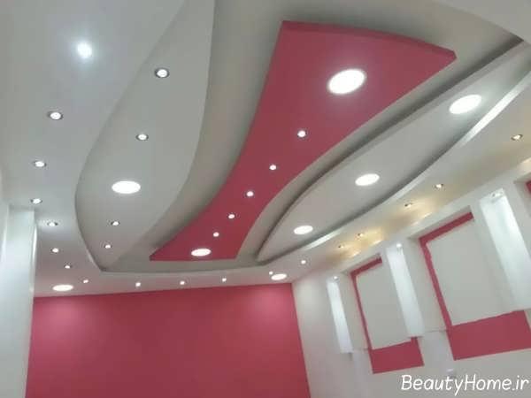 کناف سقف با طرح شیک و زیبا