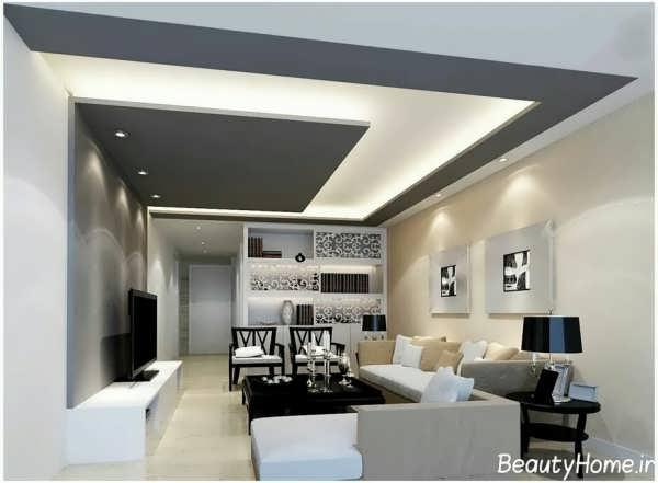 طرح سقف کاذب برای سالن پذیرایی