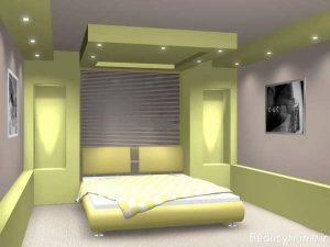 سقف کناف اتاق خواب