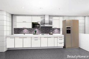 مدل کابینت های جدید و سفید آشپزخانه