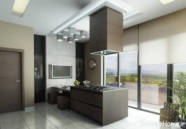 دکوراسیون شیک و کاربردی آشپزخانه