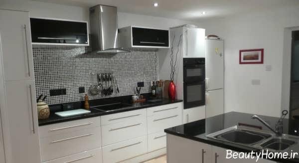 دکوراسیون داخلی آشپزخانه مدرن و کوچک