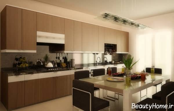 طراحی دکوراسیون آشپزخانه بزرگ