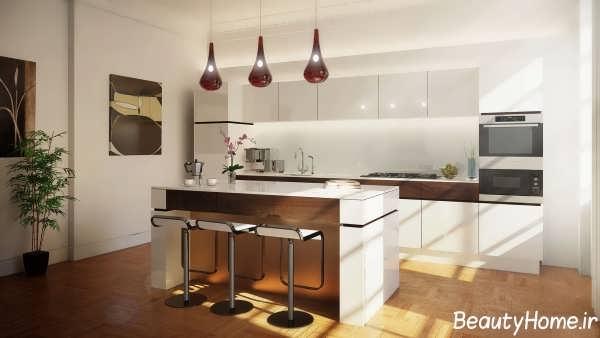 طراحی شیک و زیبا آشپزخانه
