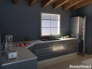 طراحی مدرن و کاربردی آشپزخانه